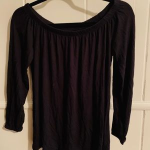 Black off the shoulder hollister blouse